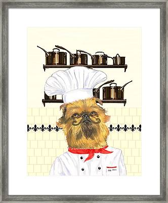 Framed Print featuring the mixed media Griff by Stephanie Grant