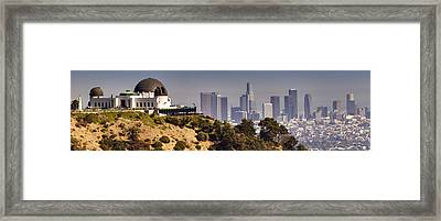 Griffith And Los Angeles Framed Print by Ricky Barnard