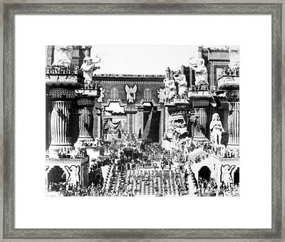 Griffith: Intolerance 1916 Framed Print