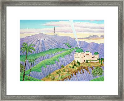 Griffith Observatory Framed Print by Tracy Dennison
