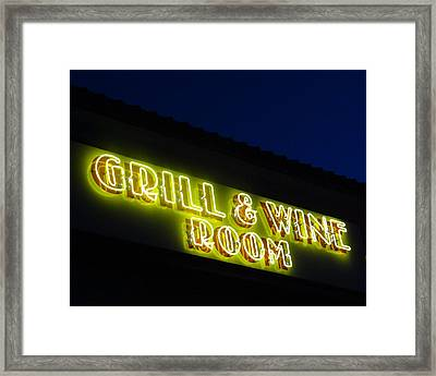 Grill And Wine Framed Print by Christopher Kerby