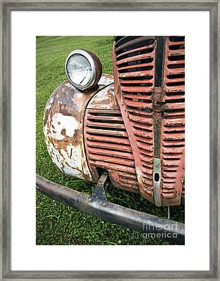 Grilled Framed Print by Glennis Siverson