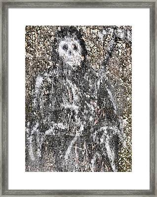 Grim Graffiti Framed Print by Kristie  Bonnewell