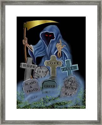 Grim X-factor Framed Print by Glenn Holbrook