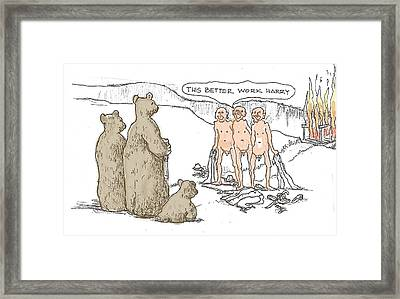 Grin And Bare It Framed Print