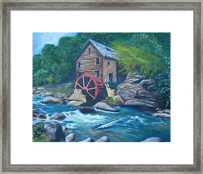Grist Mill Framed Print by Tersia Brooks