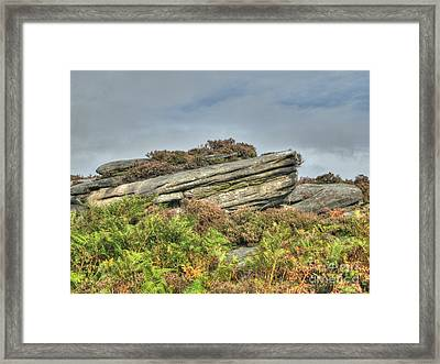 Gritstone Outcrop - Colour Framed Print by Steev Stamford