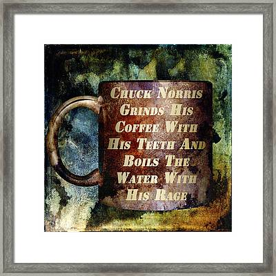 Gritty Chuck Norris 1 Framed Print