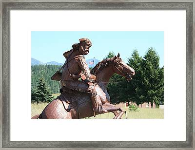 Grizzly Jack Of The Rockies Framed Print by Alan Derber