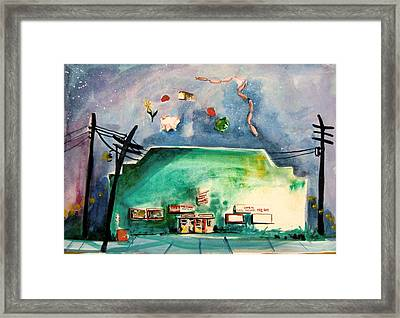Groceries Come And Go Framed Print by Mindy Newman