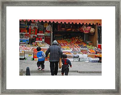 Grocery Day Framed Print