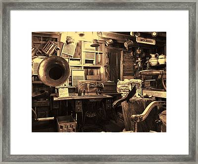 Grocery Shop Old South Park Village Framed Print