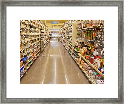 Grocery Store Aisle Framed Print by David Buffington