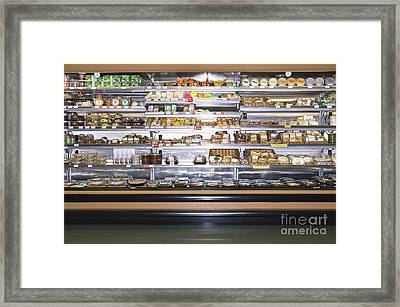 Grocery Store Display Framed Print by Andersen Ross