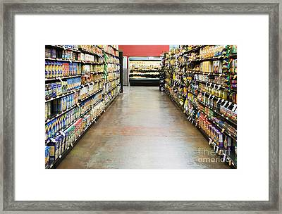 Grocery Store Isle Framed Print by Andersen Ross