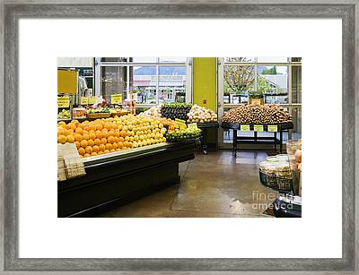 Grocery Store Produce Section Framed Print by Andersen Ross