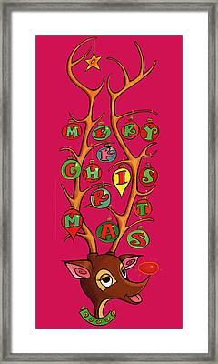Groovy Rudolph Framed Print