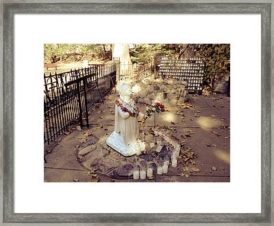 Grotto At Notre Dame Framed Print
