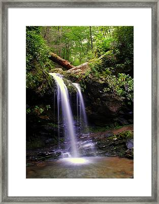 Grotto Falls Framed Print by Frozen in Time Fine Art Photography