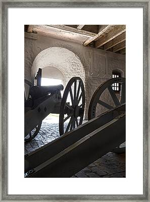 Ground Floor Cannons Framed Print by Peter Chilelli
