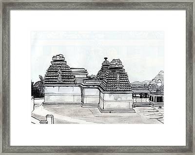 Group Of Jain Temples Hampi Framed Print by Shashi Kumar