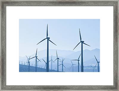 Group Of Wind Turbines Framed Print by Dave & Les Jacobs