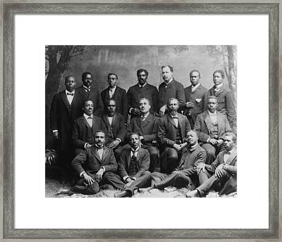 Group Portrait Of The Ministers Class Framed Print by Everett