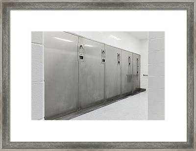Group Shower Facilities Framed Print