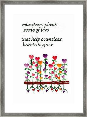 Growing Hearts Framed Print by Karon Melillo DeVega
