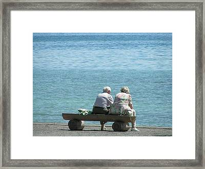 Growing Old Together Framed Print