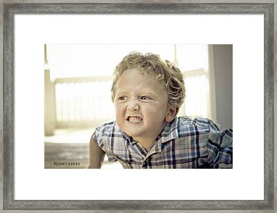 Grrr Framed Print by Adam Gerdes