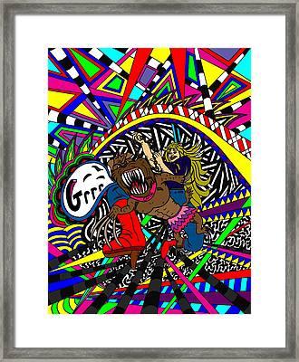 Grrr Framed Print by Karen Elzinga