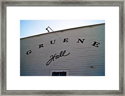 Gruene Framed Print