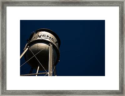Gruene Water Tower Framed Print