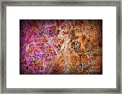 Grunge Background 3 Framed Print by Carlos Caetano