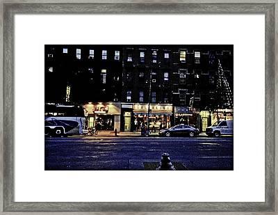 Grunge Street Framed Print by Robert Ponzoni