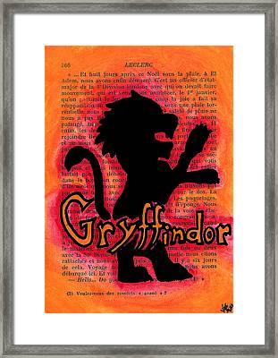 Gryffindor Lion Framed Print by Jera Sky