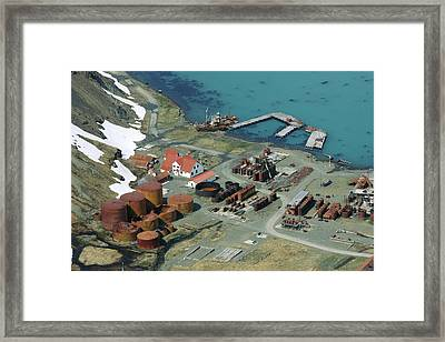 Grytviken Whaling Station, South Georgia Framed Print by Charlotte Main