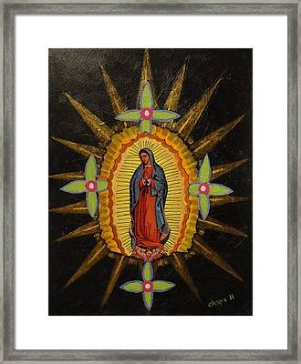 Guadalupe Framed Print by Manny Chapa