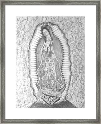 Guadalupe Framed Print by Miguel Rodriguez