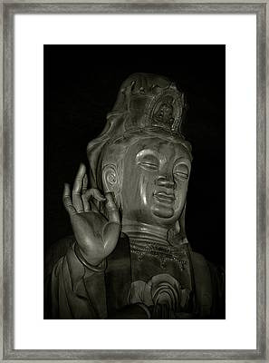 Guan Yin Bodhisattva - Goddess Of Compassion Framed Print by Christine Till