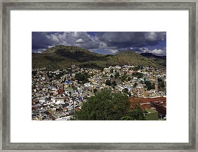 Framed Print featuring the photograph Guanajuato Vista No. 1 by Lynn Palmer