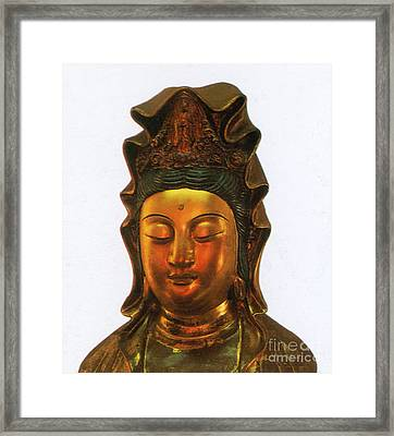 Guanyin, Chinese Goddess Of Mercy Framed Print by Photo Researchers