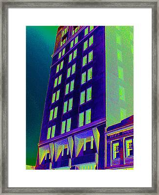 Framed Print featuring the photograph Guaranty Bank Building by Louis Nugent