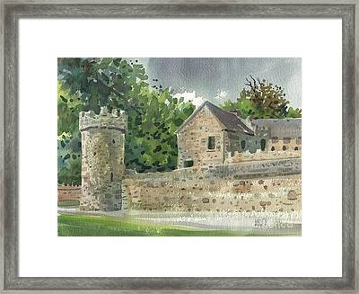 Guard Tower At Tintern Abbey Framed Print by Donald Maier