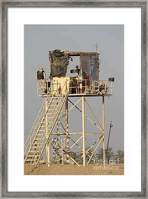 Guard Tower Manned By Georgian Soldiers Framed Print by Terry Moore
