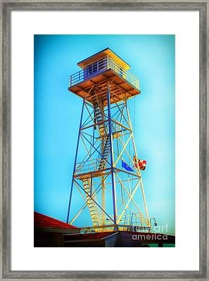 Guard Tower Framed Print by Thanh Tran