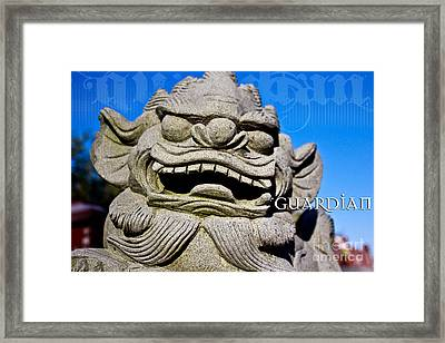 Guardian Framed Print by Extrospection Art