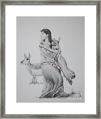Guardian Of The Herd Framed Print