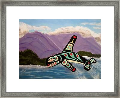 Guardian Of The Oceans Framed Print by Judi Schultze